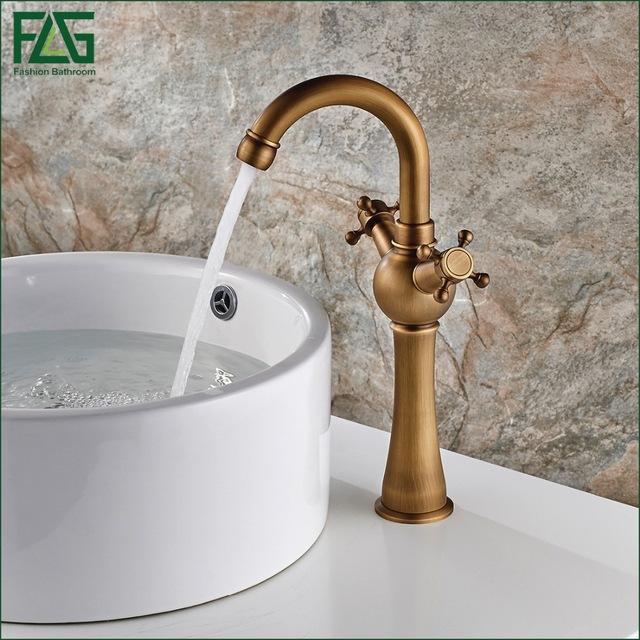 European Nordic Retro Basin Faucet 100% Copper Retro Antique Bathroom Faucets YKRHNDZ