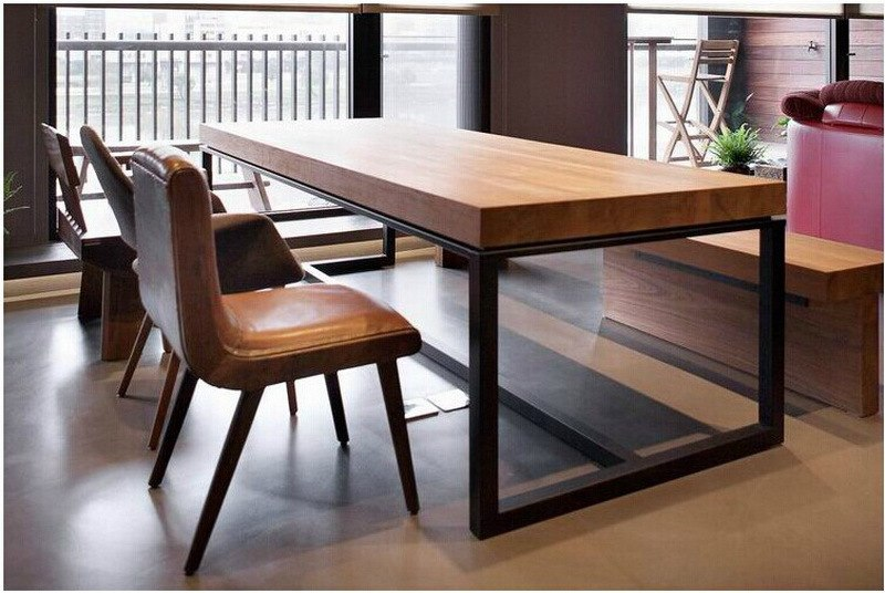 European dining table made of solid wood rectangular dining tables made of wood combination by MBFVAIR