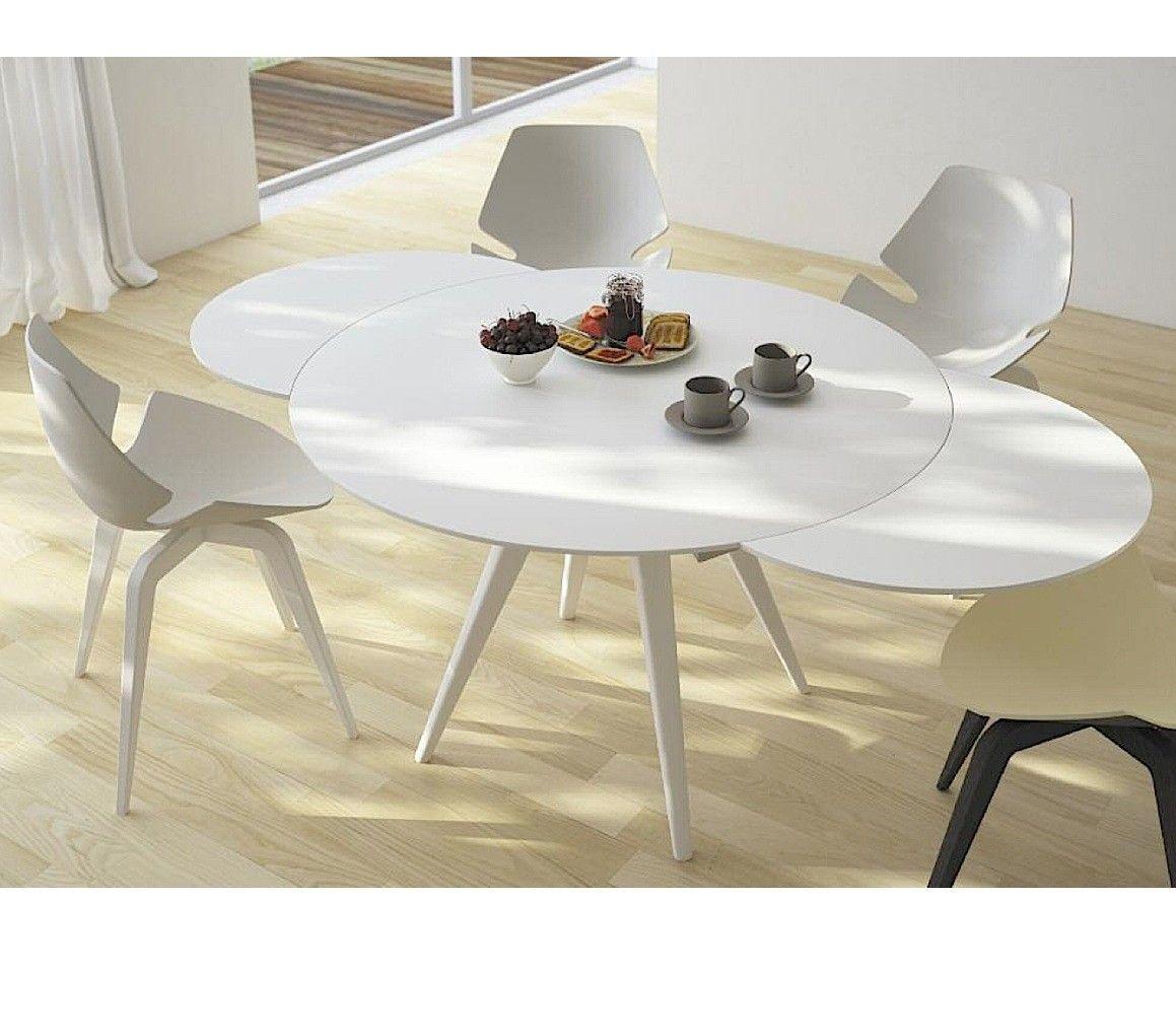 Extendable dining table elan metallo round extendable dining table - Dining table - Furniture - DKPCMBL