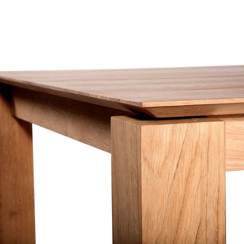 extendable dining table Ethniraft oak Slice extendable dining tables EHBCDZP