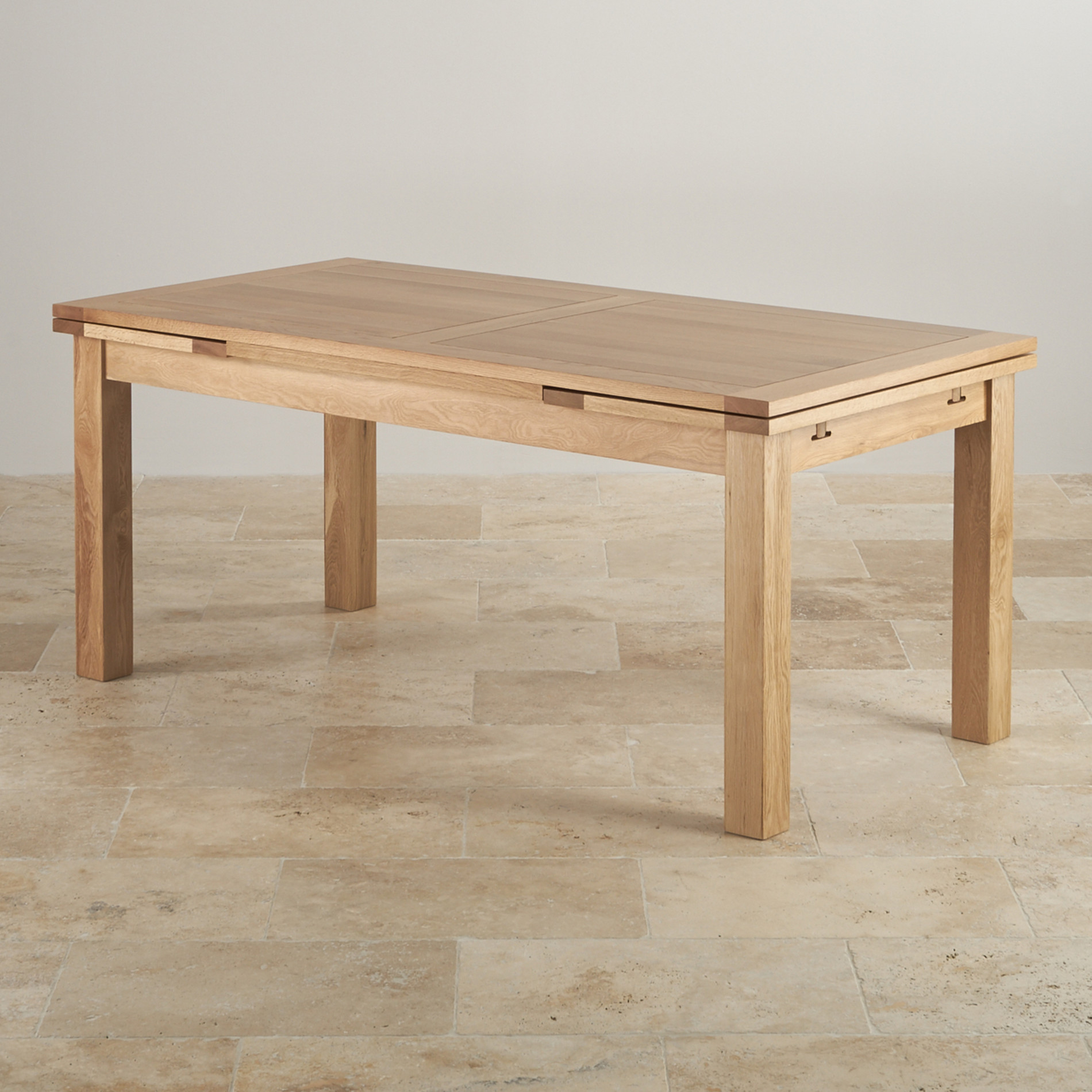 Extendable dining table in Dorset extendable in natural oak furniture country VYUYZMU