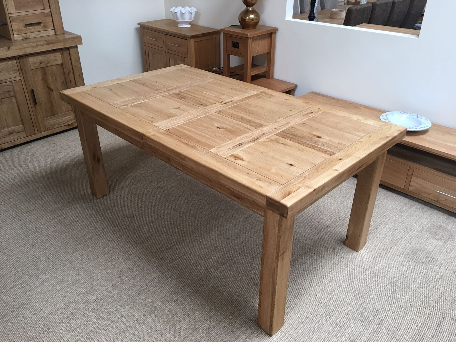 extendable dining table ... Oakita Oxford 6ft table not extended ... LXMASVW