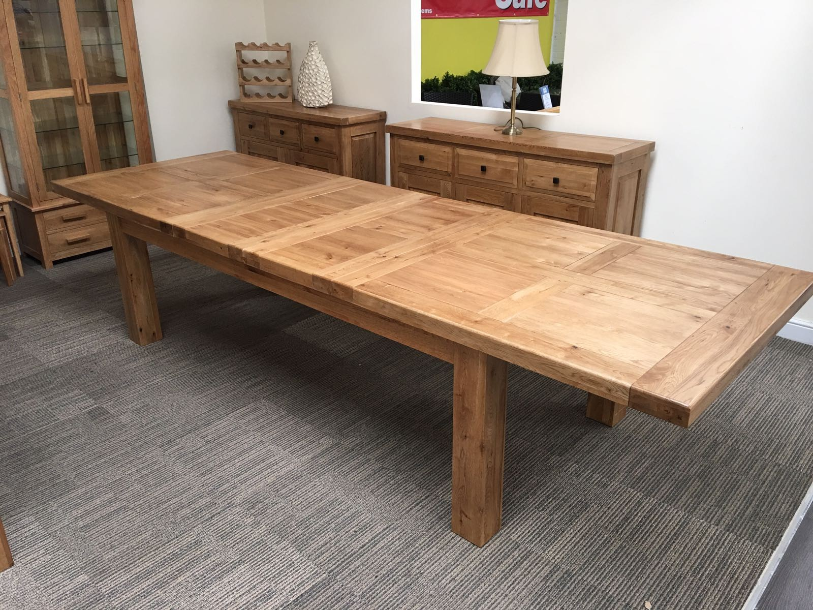 Extendable Dining Table Oxford 8ft Extended ... EVAPPTF