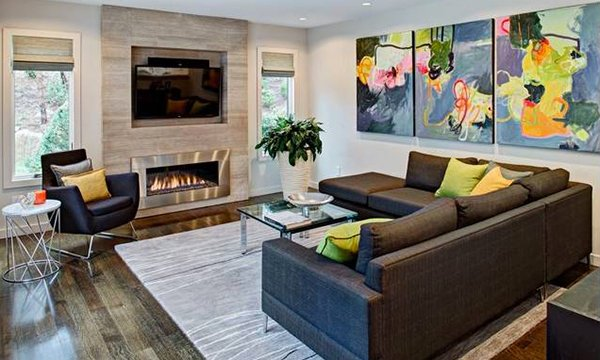 Family room colorful murals YLAXJAC