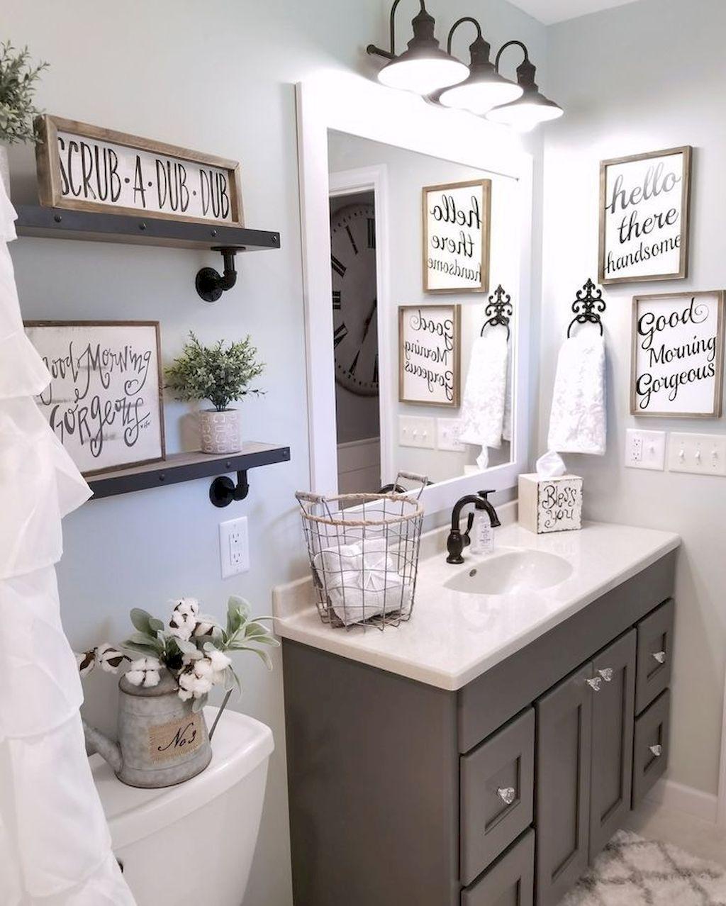 Bathroom decorating ideas in the farmhouse QYFIPSL