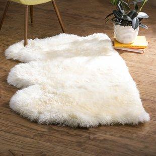 Sheepskin imitation rug Allison hand-woven white sheepskin imitation rug YQNDWSU