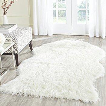 Faux sheepskin rug architecture amazon com safavieh faux silky sheepskin fss235a ivory range shag GFLWFHM