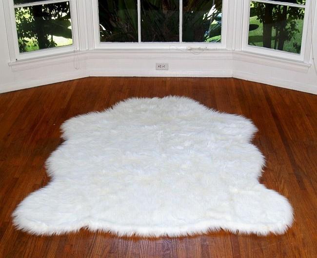 Fake sheepskin rug Fake sheepskin rug white fake sheepskin rug BYSBJJM