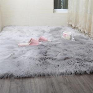 Sheepskin imitation carpet Image is loading 1m-x-2m-large-faux-lambskin-carpet-shaggy- MWOXRFZ