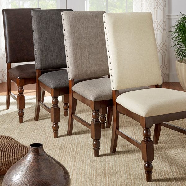 Flatiron Nailhead Upholstered Dining Chairs (Set of 2) by inspire q classic RPXSYAP