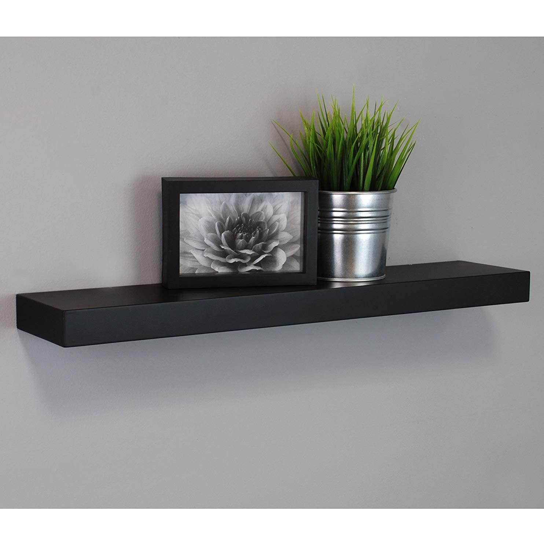Floating wall shelf amazon.com: kiera Grace Maine wall shelf / floating ledge, 24 inches - black: WQDJJNU