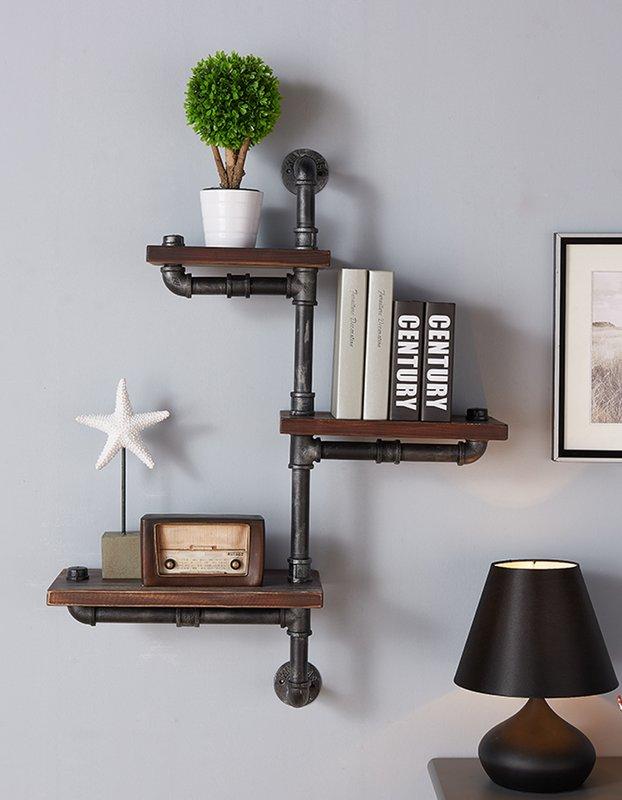 floating wall shelves hanging wall shelves trent austin design 3 shelves wooden floating wall shelf HLSHQOP