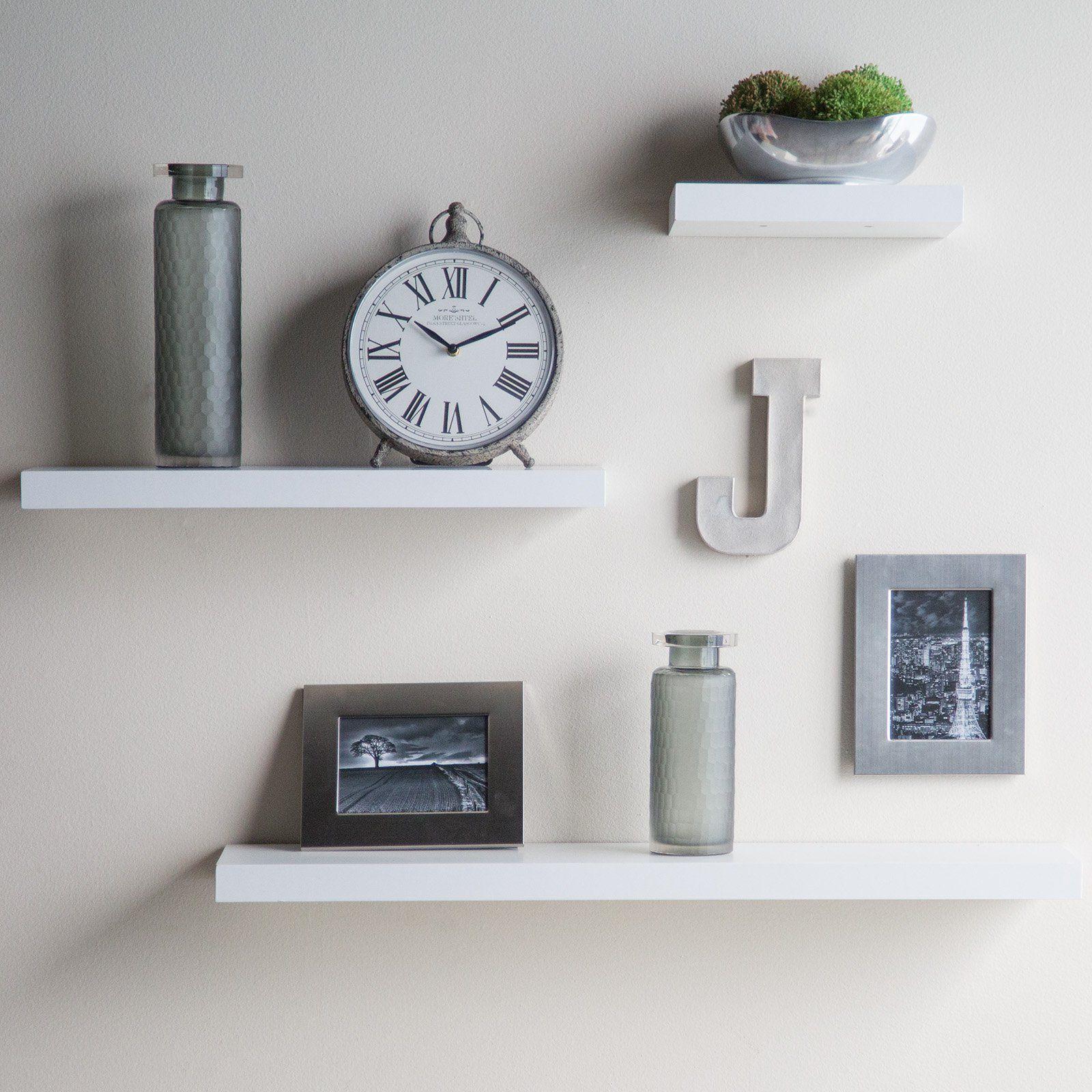 floating wall shelves hudson easy mount floating shelves - 3 pk.  (36 inches / 24 inches / 12 inches) QGWXWOA