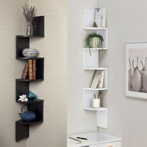 floating wall shelves image is loading 5-level-corner-shelf-shelf-floating-wall-shelving- IILEZCT