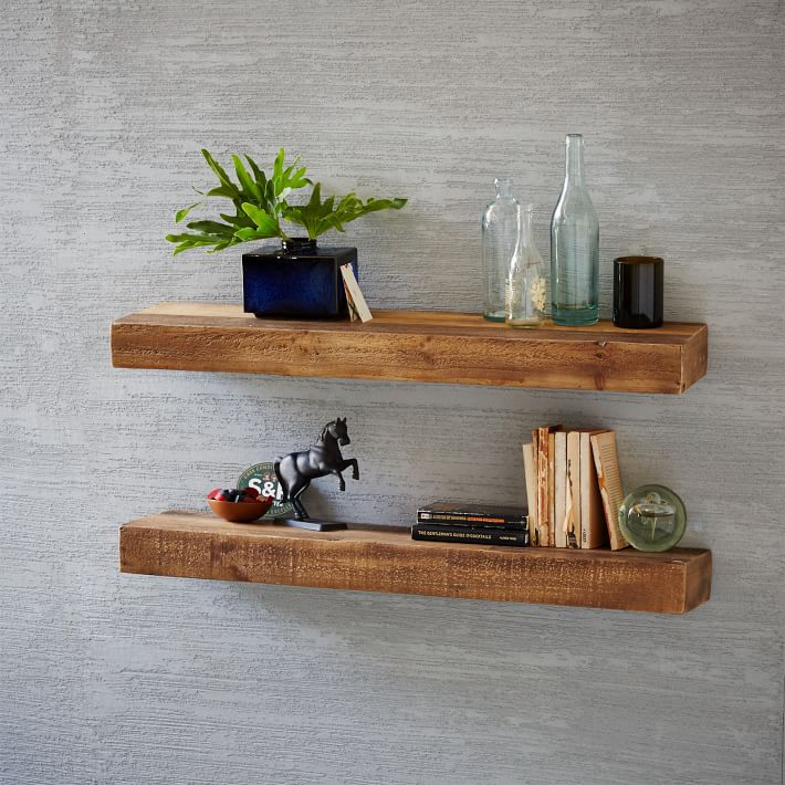 floating wall shelves floating shelf made from recycled wood    West Elm SUGIMHA