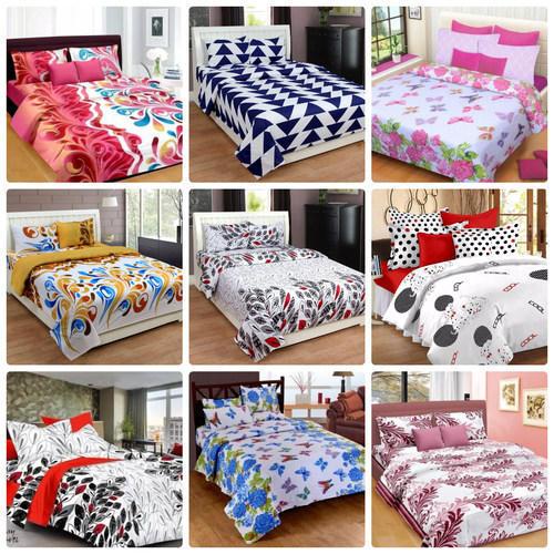 Cotton bed linen with floral print XPDEALT
