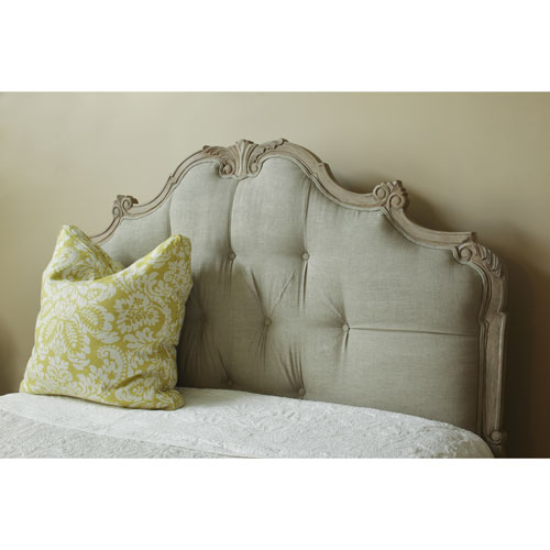 Florentine palace upholstered headboard with carved wooden frame QOGSDNU