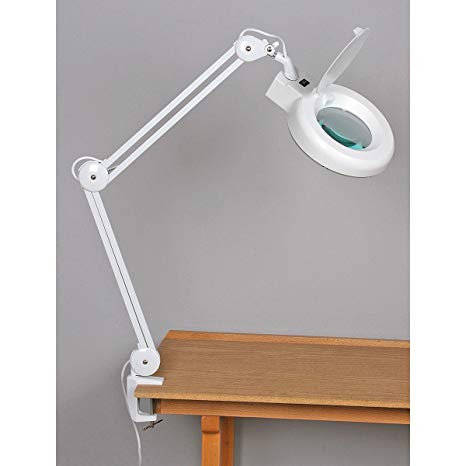 fluorescent, swiveling magnifying lamp YRYRTII