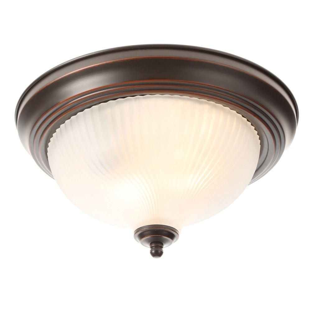 Recessed luminaire 2-flame brushed nickel Recessed luminaire with frosted vortex glass shade-fzp8012a - the YDVVRBJ