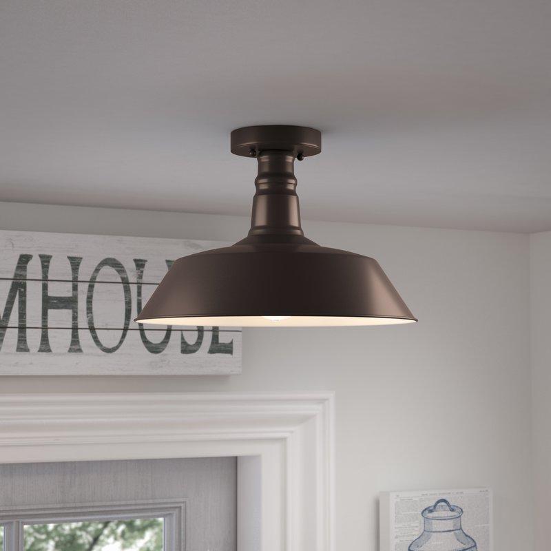 Flush-mounted lighting package, 1-lamp, semi-recessed FAPBPXF