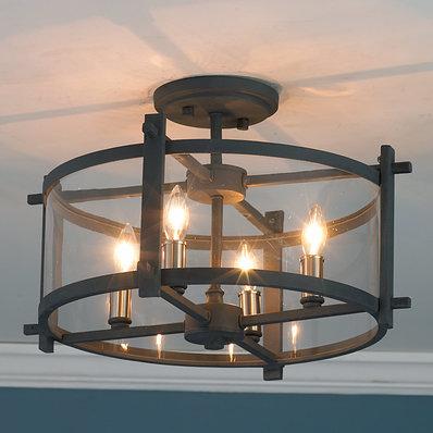 Recessed lights clear modern semi-flush ceiling light URYQGSS