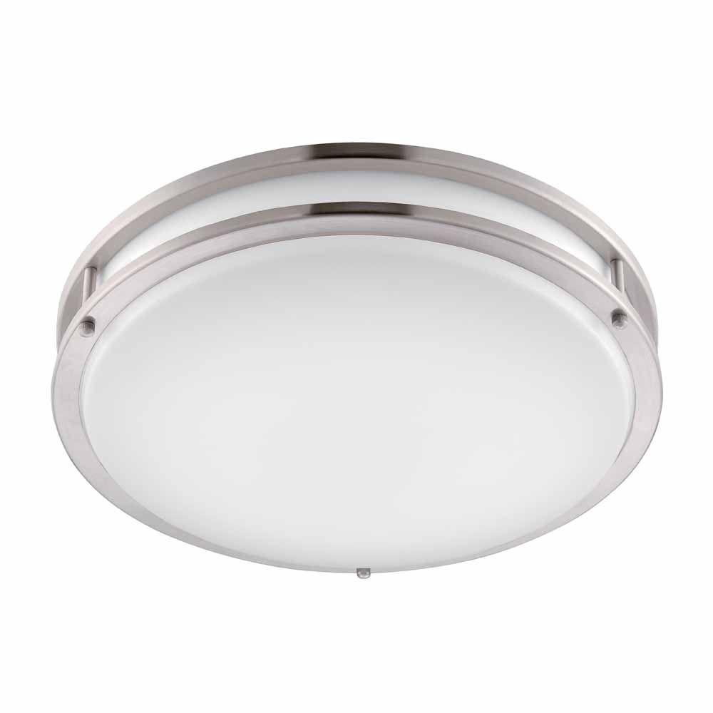 Recessed luminaire Hampton Bay brushed nickel LED round recessed luminaire CVEIJFJ