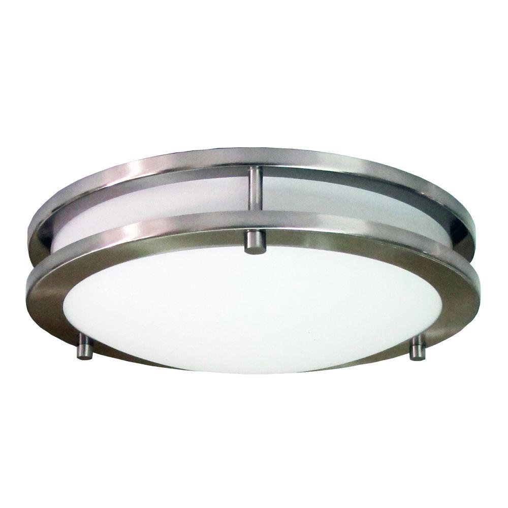 Flush-mounted light homeselects saturn 3-flame nickel brushed flush-mounted DWZESBZ
