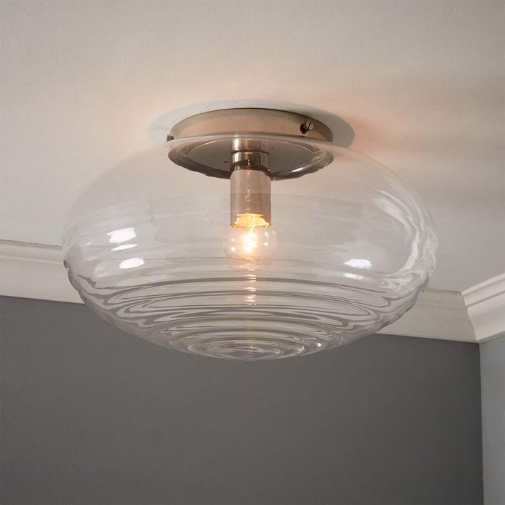 Flush-mounted lighting, corrugated glass, flush-mounted |  West Elm FGTKUHB