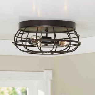 Save built-in lighting.  Birch Lane ™.  Cheke flush mounting AQWSGMH