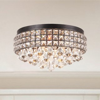 Recessed light silver orchid Taylor iron shade crystal recessed light YSFEISG