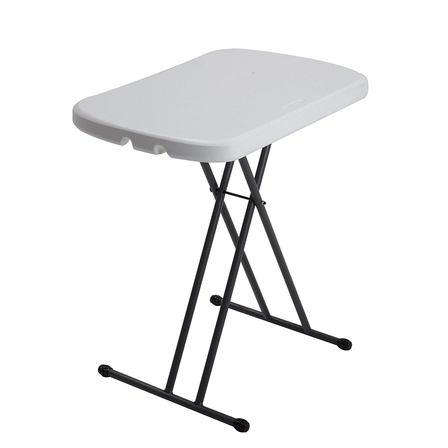Folding table amazon.com: Lifetime 80251 adjustable folding table for laptop, TV tray, 26 inches, GNVFHJW