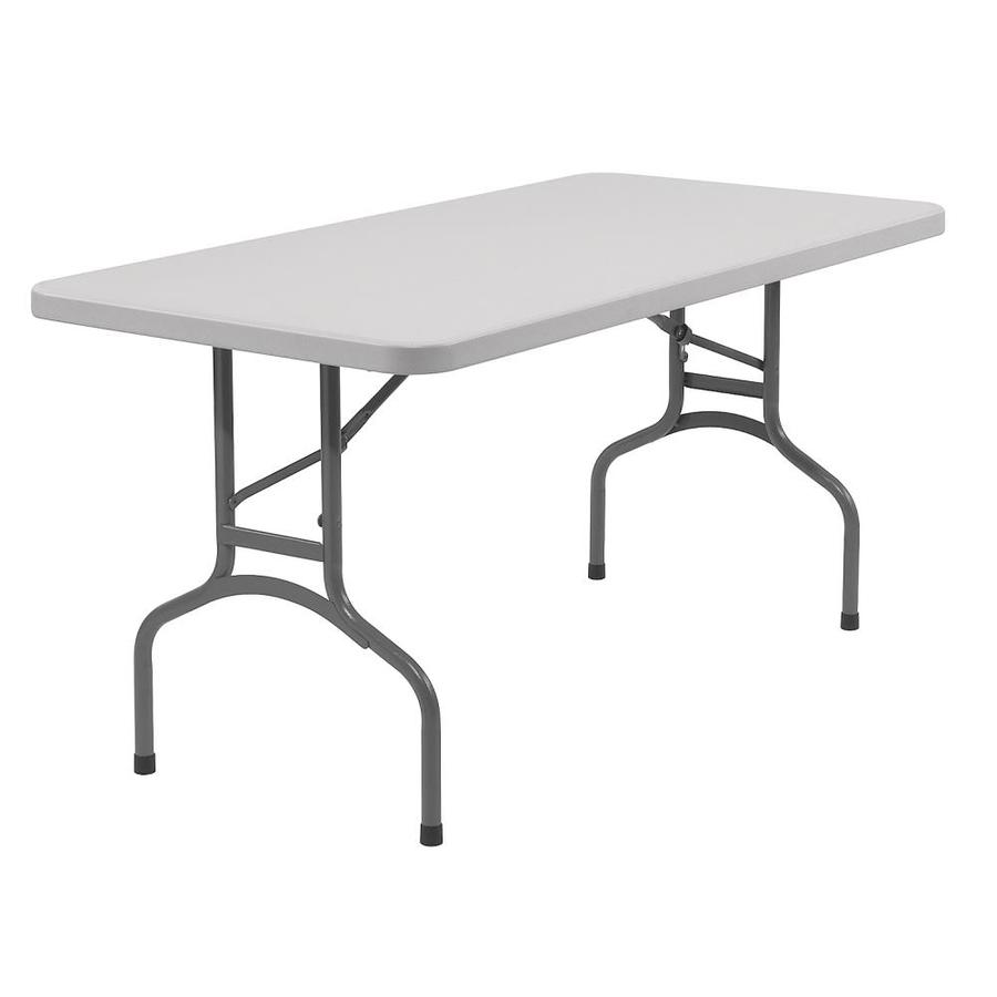 Folding table national public seating 72-inch x 30-inch rectangle steel speckled gray folding TDCRSIG