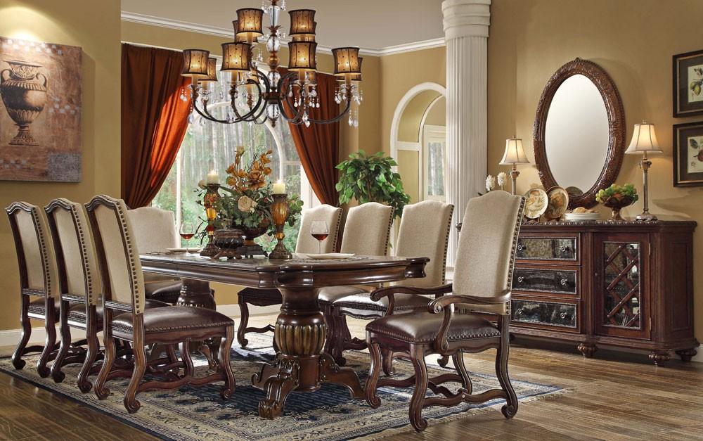 formal dining room sets Ashley formal dining room table set ESGGYHT