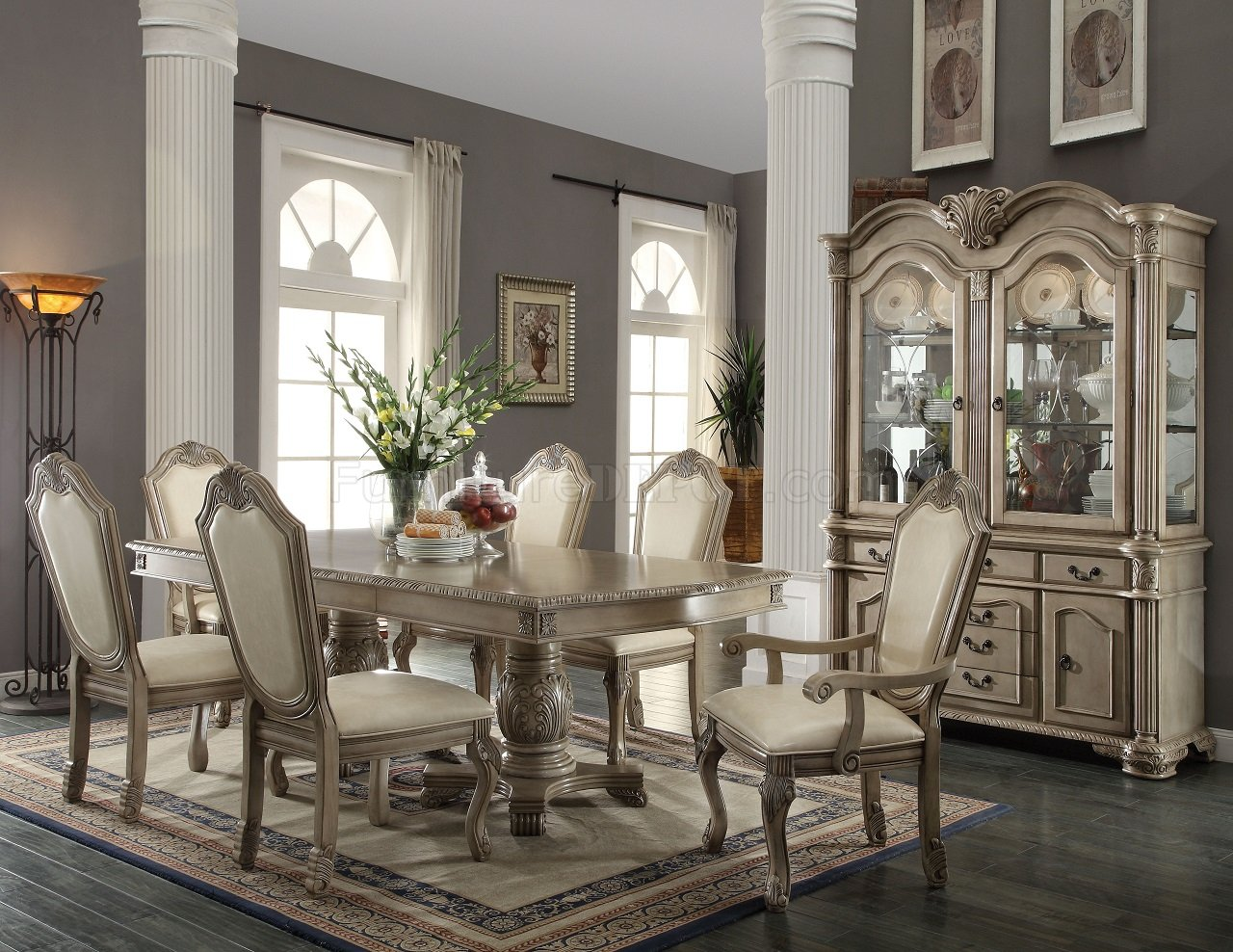 formal dining room sets chateau de ville 64065 dining table by acme w / options ZEVAWXD