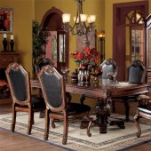 formal dining sets chateau de ville dining table 04075 in cherry by acme w / options KGYOMBT