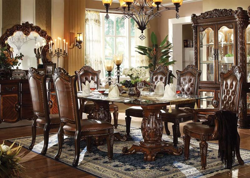 formal dining room set vendome formal dining room set with glass table top BNSQEUO