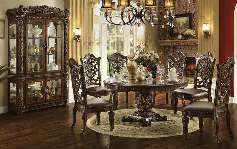 formal dining room set vendome round formal dining room set ... YKHORMB