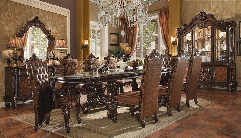 formal dining room set versailles large formal dining room set in cherry USFSDJS
