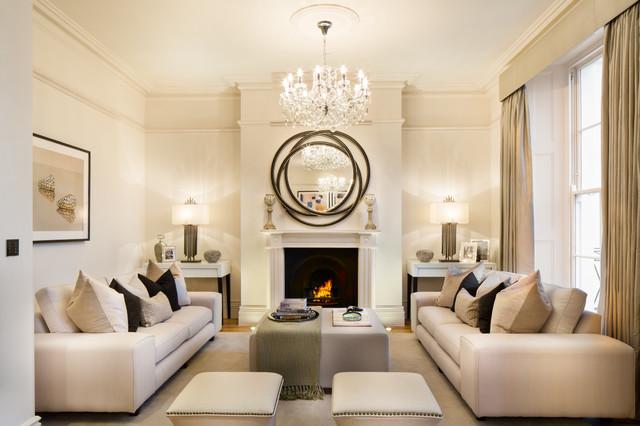 formal living room North Road, London Transitional living room VUYOSEH
