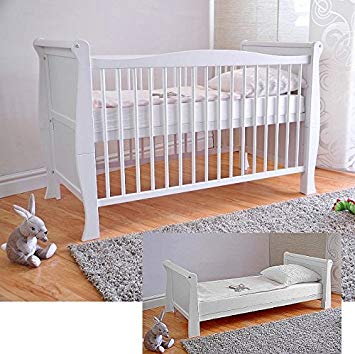 Free delivery to Germany ✓ White solid wood baby bed & Deluxe OZAAMLE