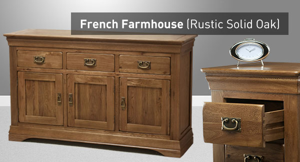French farmhouse range |  Solid oak |  Oak furniture country JGYWZBN