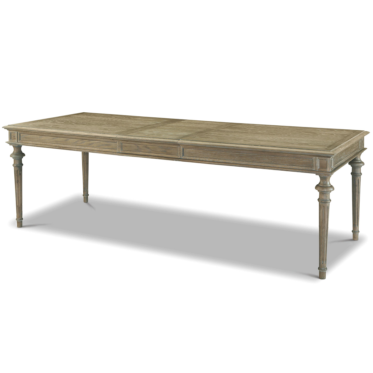 Extendable French oak dining table from Tribeca with turned leg OXHCHPW