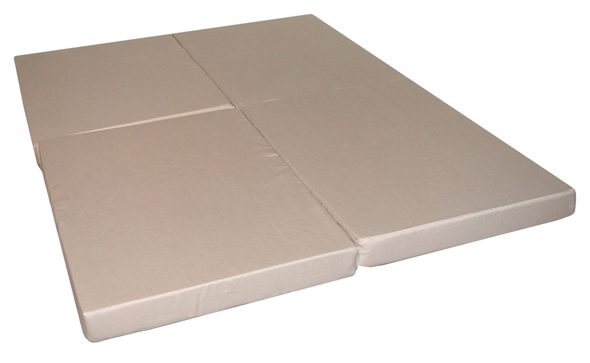 Full-size folding mattress Full-size folding foam mattress Floor mat in sand - Elite 32-5940-611 FQLMRCS