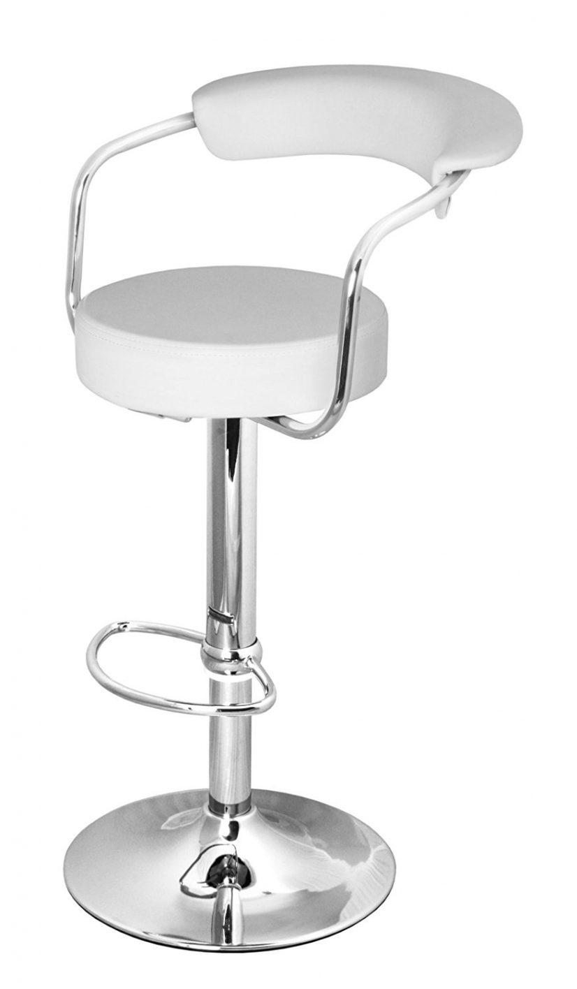 Full size bar stool: adjustable swivel bar stool with back height GIPBIZE