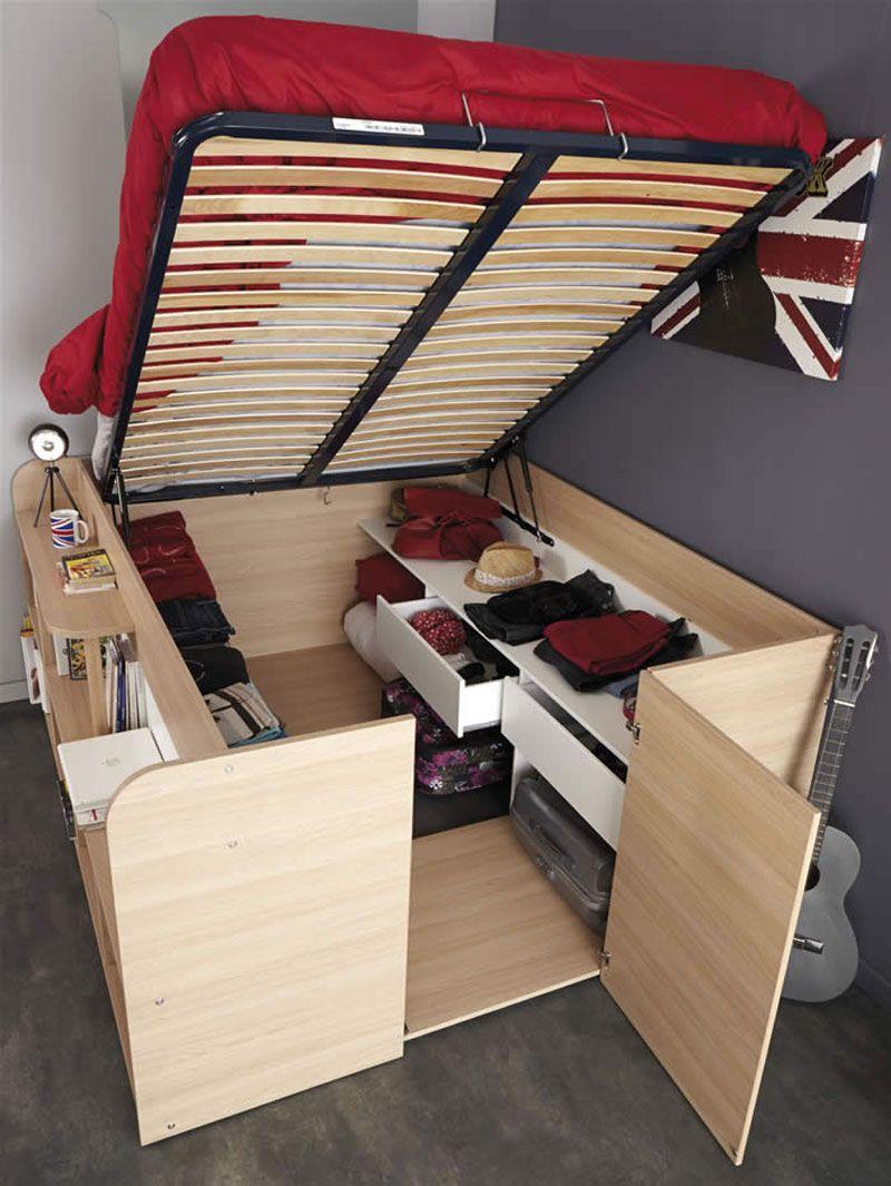 Small space furniture storage bed, parisot, convertible furniture, small space solution, interior, design BCPDBJC