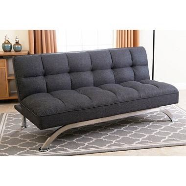 Futon couch belize gray click-clack futon sofa bed Sam s Club at MWSIFXP