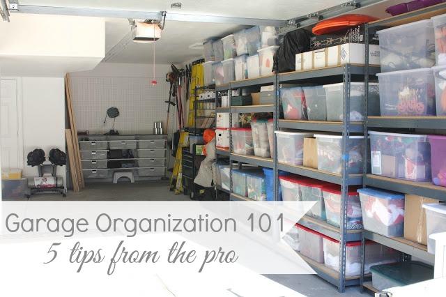 Garage Organization 101 - 5 Tips to Get Your Garage in Shape!  YMQEUVA