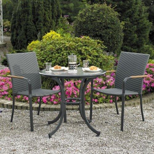 Garden Bistro Sets amazon.com: home & Garden Direct Naples Café Bistro Set for 2 HLCTNQH