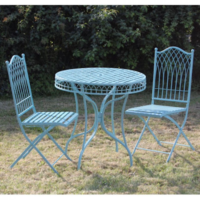 Garden bistro sets Hampton Bistro set turquoise CBCAFVA
