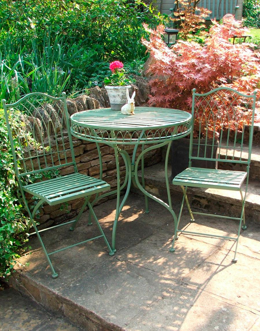 Garden bistro sets Heritage green bistro set OYBUEQB